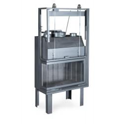 Ενεργειακό τζάκι αερόθερμο 80 CORNER 3 ΘΑΛΑΜΩΝ