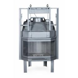 Ενεργειακό τζάκι αερόθερμο 80 POLI 3 ΘΑΛΑΜΩΝ